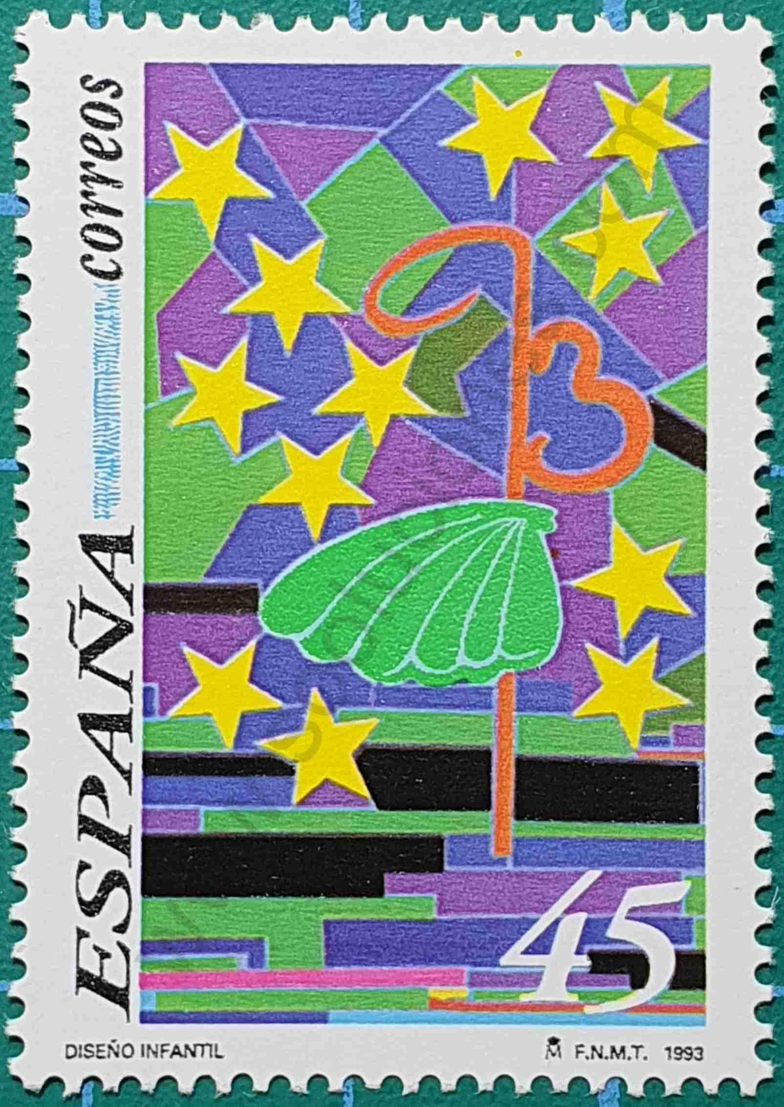 Diseño Infantil - sello España 1993