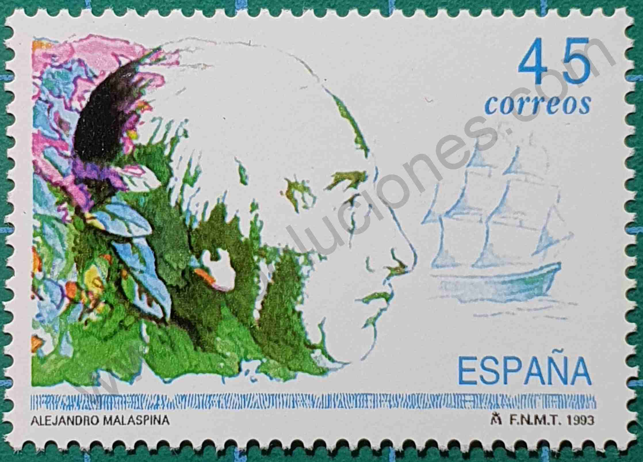 Alejandro Malaspina - sello España 1993