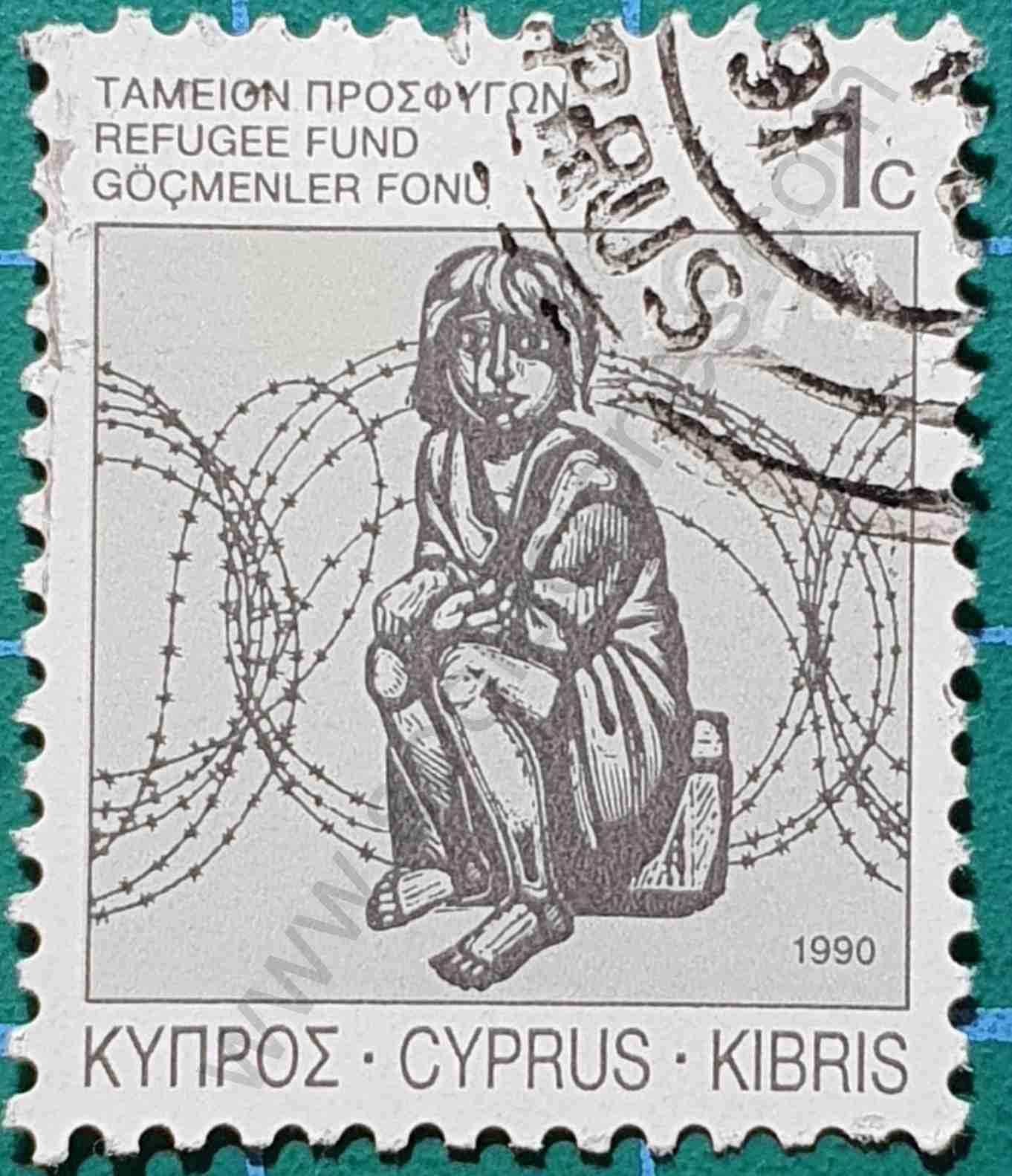 Refugiado - sello Chipre 1990
