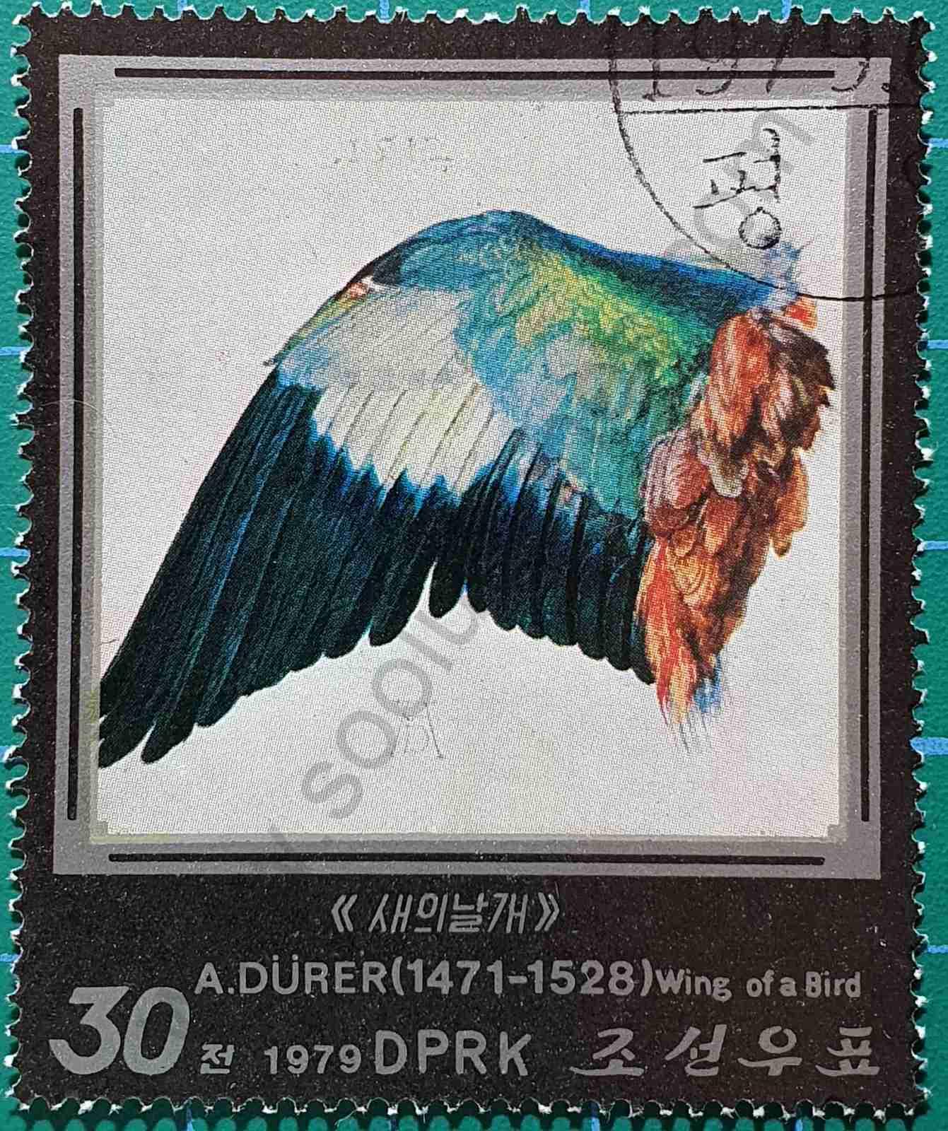 Ala de pájaro - sello Corea del Norte 1979
