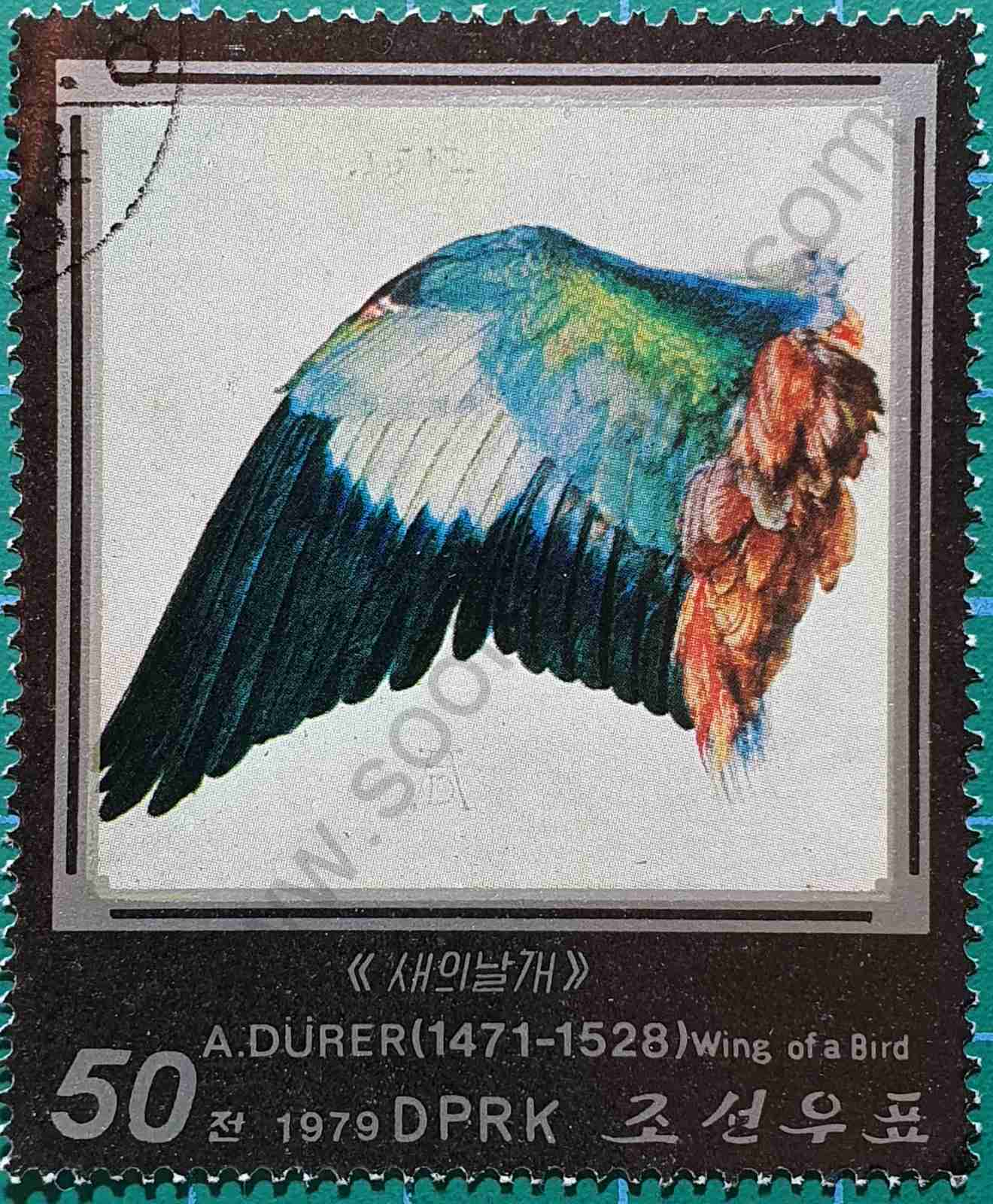 Ala de pájaro 50 Chon - sello Corea del Norte 1979