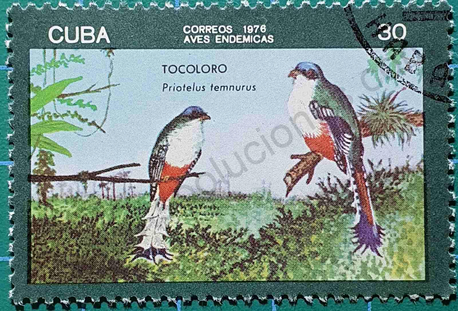 Tocoloro - sello Cuba 1976
