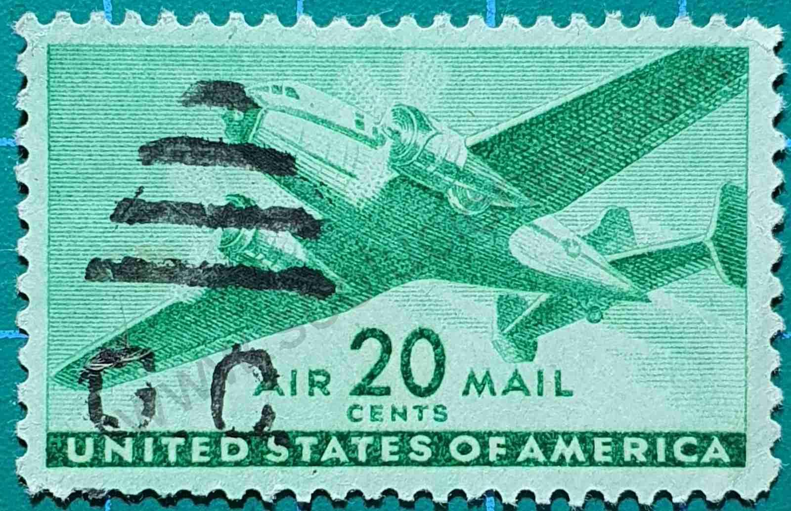 Avión bimotor -sello Estados Unidos 1941