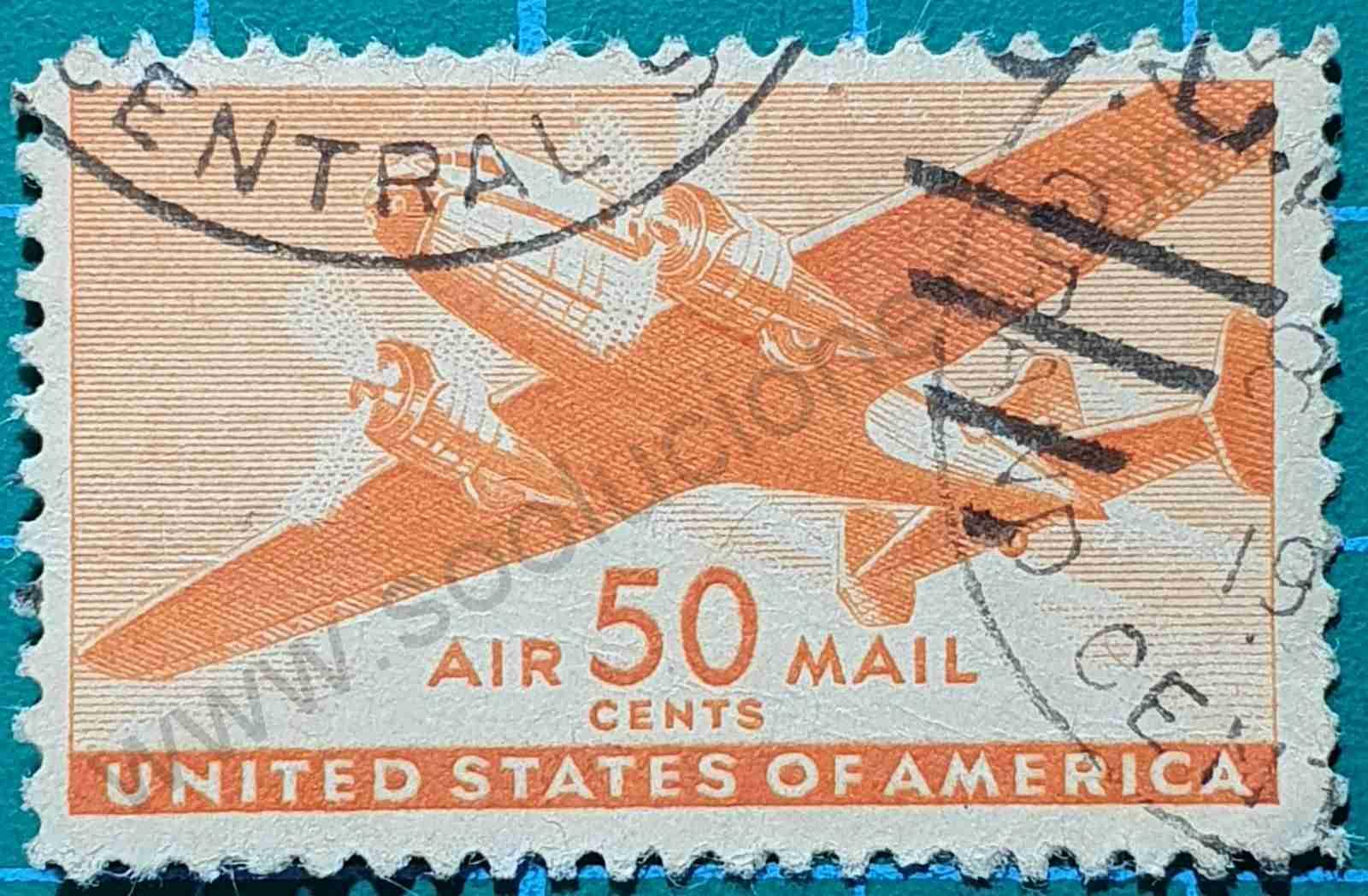 Avión 50 Cents - sello Estados Unidos 1941