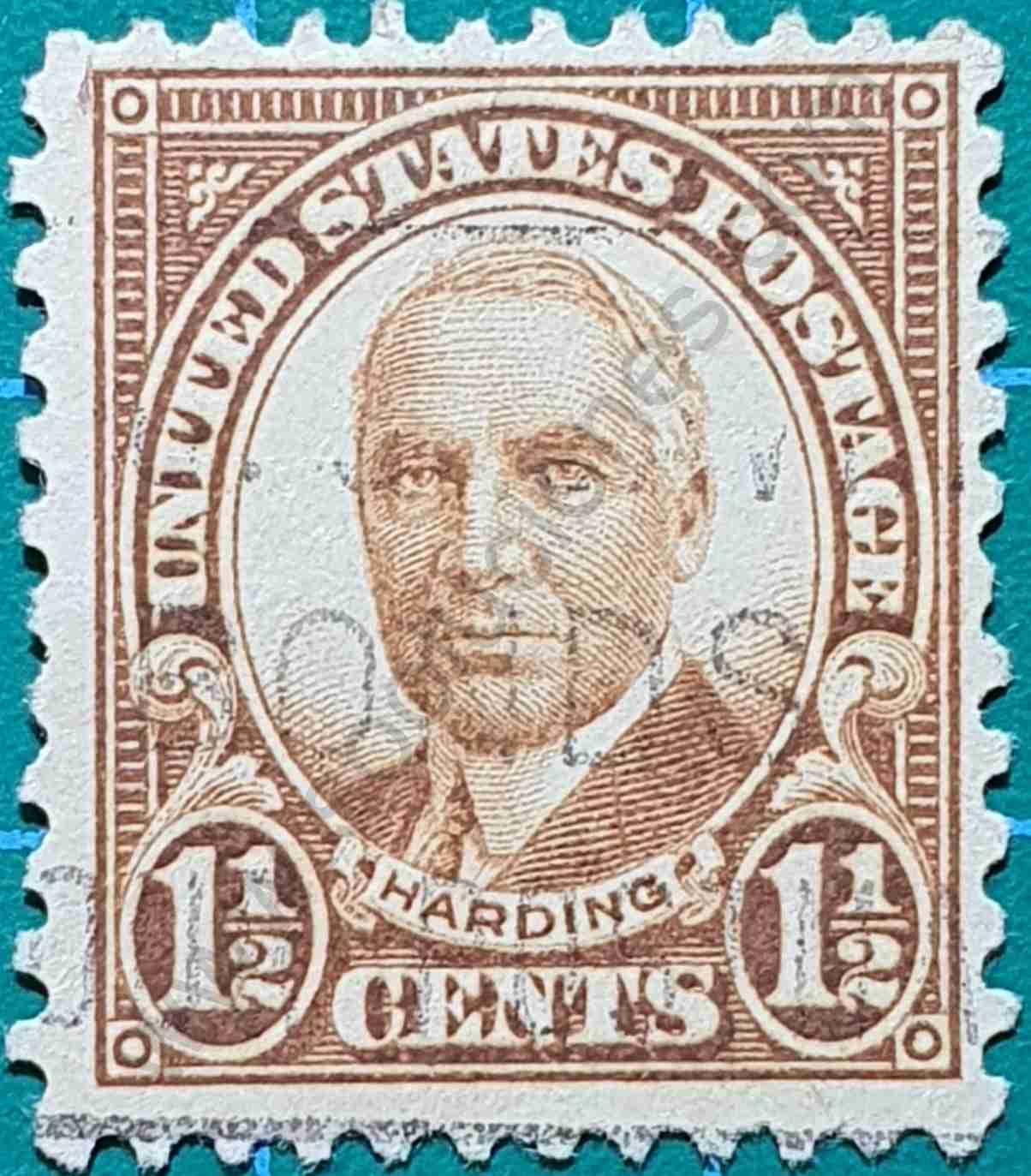 Warren Harding - sello Estados Unidos 1930